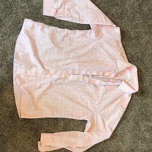 Pink button up dress shirt